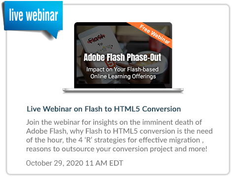 Live Webinar on Flash to HTML5 Conversions